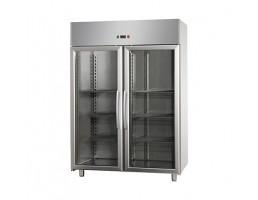 2 Glass Door Stainless Steel Freezer - AF14 EKO MBT PV