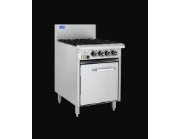 4 Burner Gas Static Oven 600mm Essentials Range