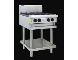 Cooktop - 4 Burners & Shelf - CS-4B