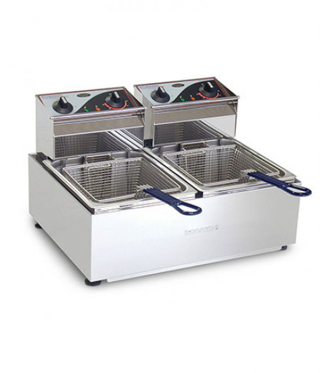 Double Pan Counter Fryer 8 Litre Capacity - F28