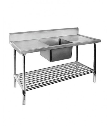 Single Centre Sink Bench & Pot Undershelf - SSB6-1200C/A
