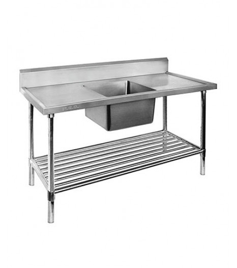 Single Centre Sink Bench & Pot Undershelf - SSB6-1500C/A