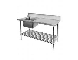 Left Inlet Single Sink Dishwasher Inlet Bench - SSBD7-1500L/A