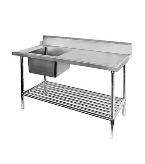 Left Inlet Single Sink Dishwasher Inlet Bench - SSBD7-1800L/A