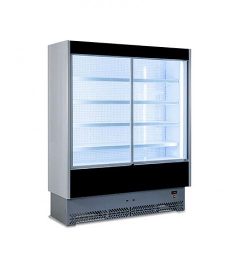 Open Display Fridge with Glass Sliding Doors - VS80 125SL
