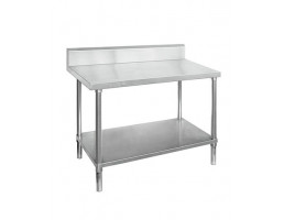 STAINLESS STEEL WORKBENCHES with Splashback -WBB6