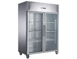 Fed X Two Full Glass Door Upright Freezer Xurf1200g2v