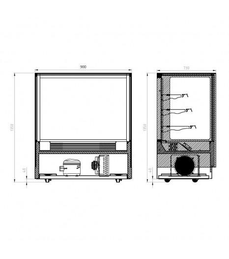 Food Display Gn 900rf3 Cad
