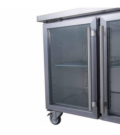 Xub7c13g2v Glass Door Bench Fridge Door